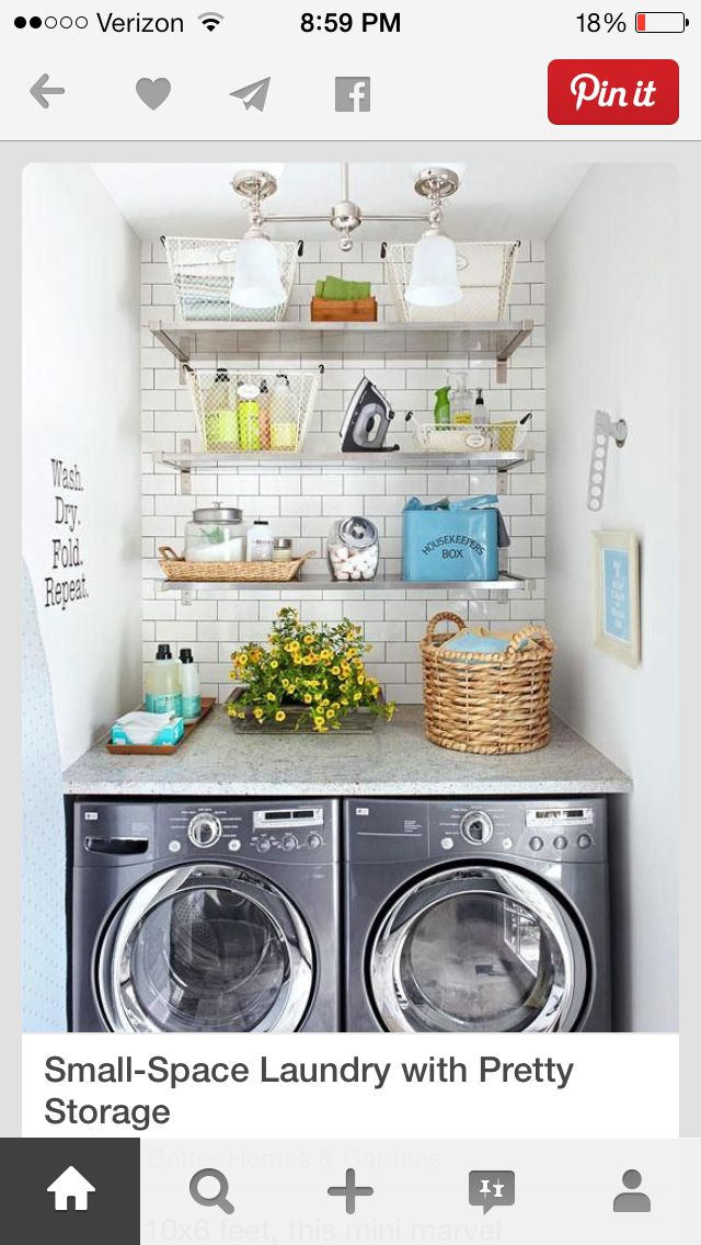 Pin by LinksLady💞 on Home | Pinterest | Laundry, Laundry rooms and ...