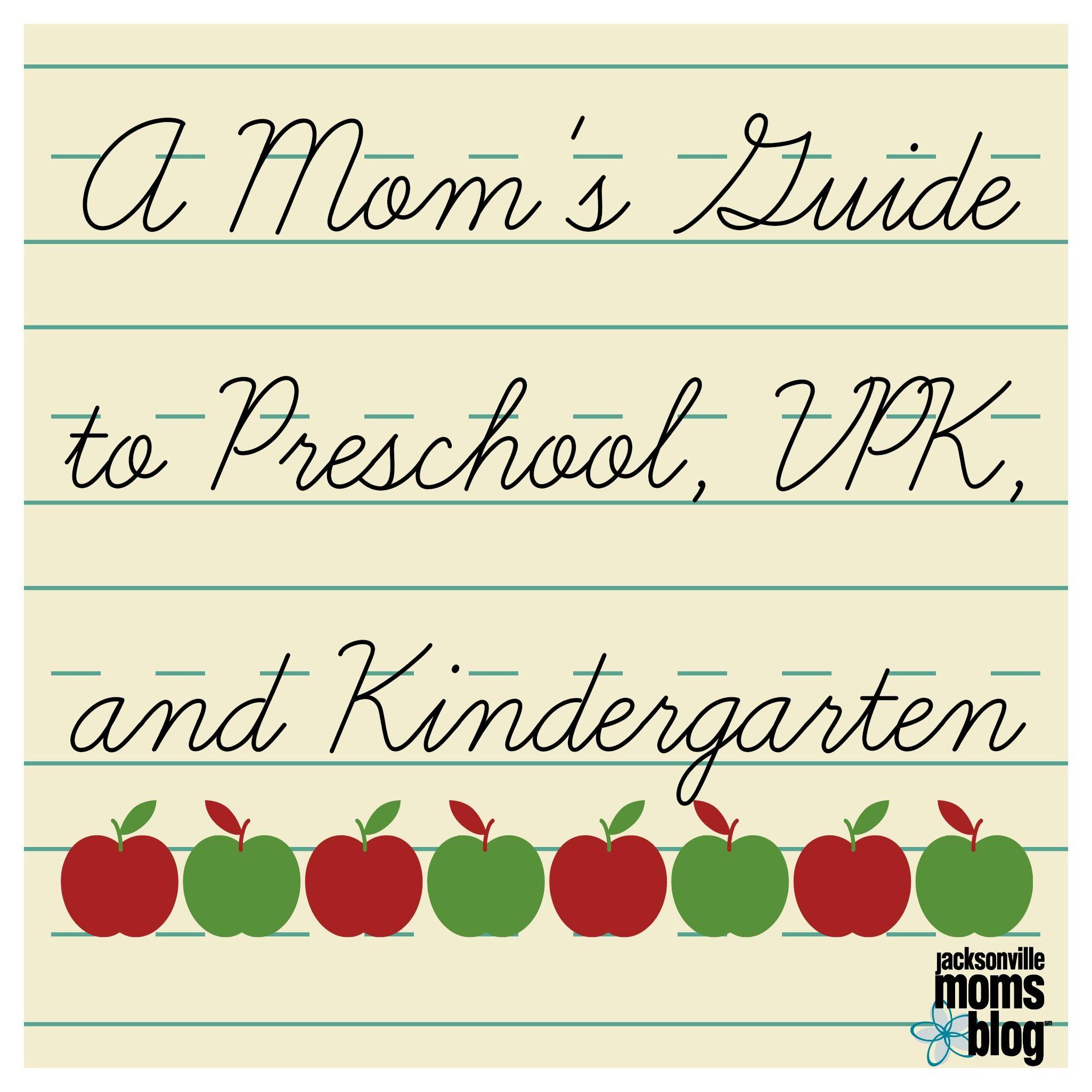 Mom S Guide To Preschool Vpk And Kindergarten