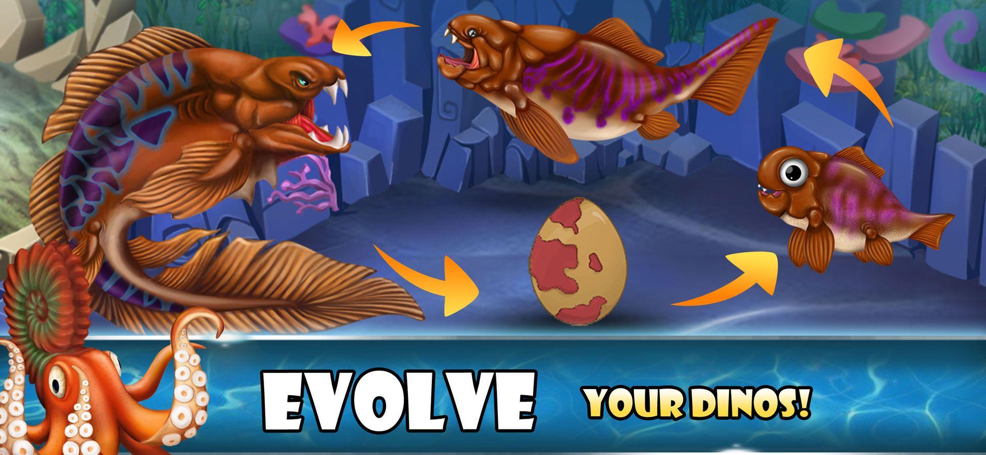 Dino Water WorldJurassic game StrategyGames