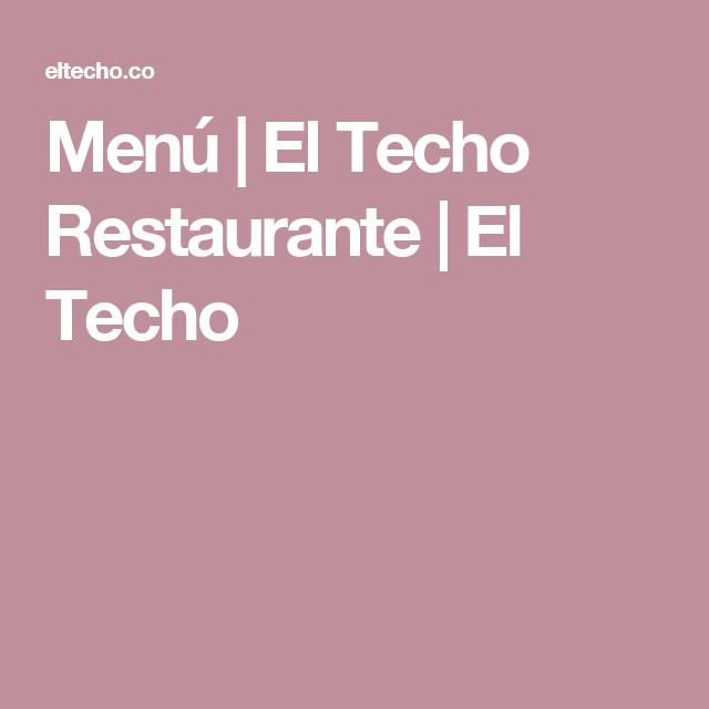 El techo mexicano menu