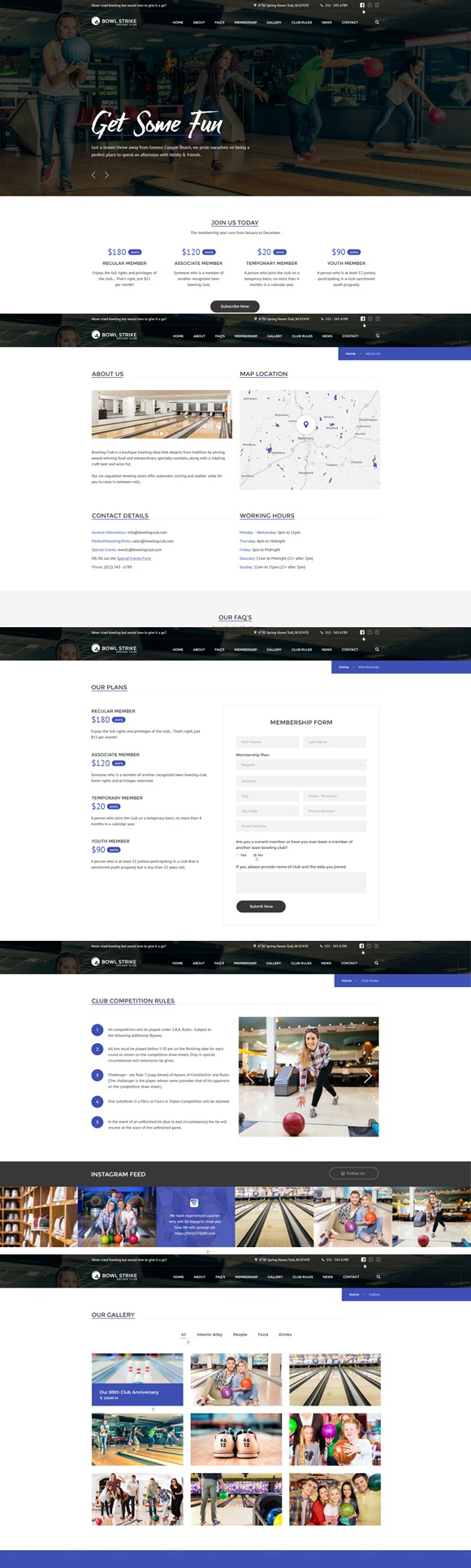 Bowling - Bootstrap template. HTML/CSS Themes. $18.00   HTML/CSS ...