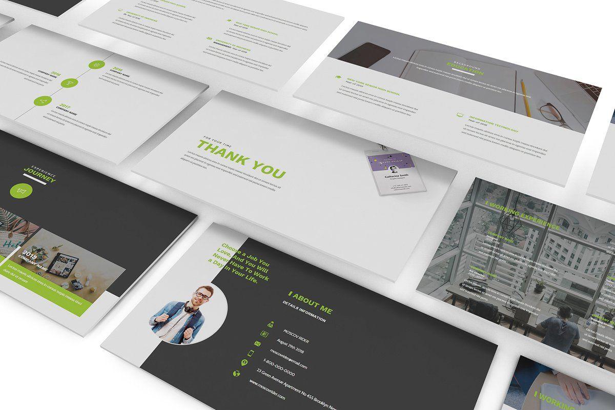 Resume CV Powerpoint Template (с изображениями)