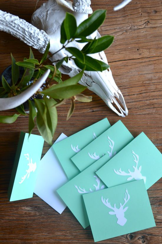 Big Buck Note Cards // The Lovely Bee