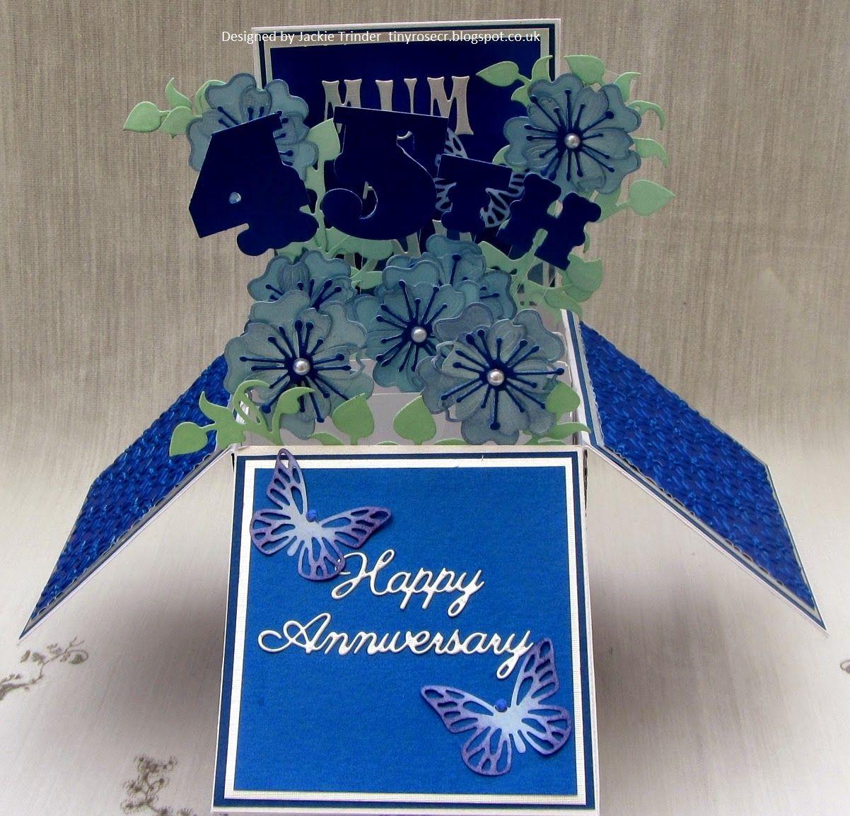 tinyrose s craft room pop up box 45th wedding anniversary card