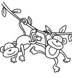 Image result for easy to draw swinging monkey