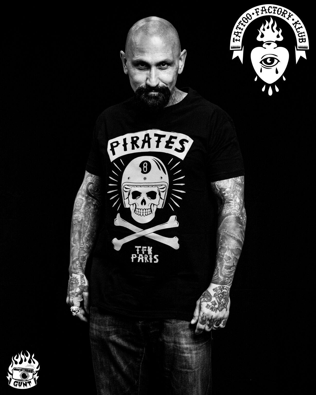#robertlasardo Pirate Tee By TFK  http://www.tattoofactoryklub.com
