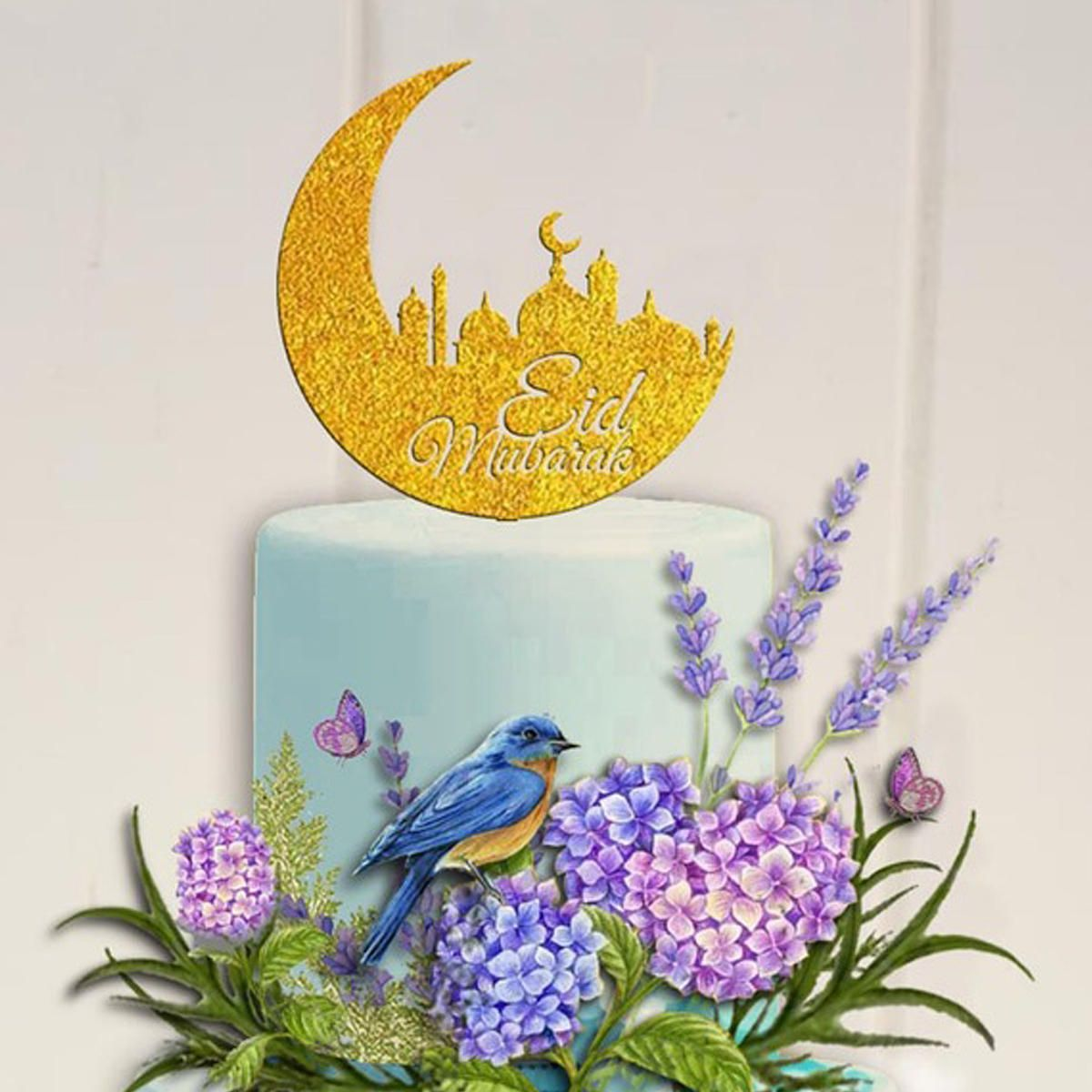 Wedding decorations muslim  Eid Mubarak Ramadan Wedding Birthday Cake Topper Mu  Kitchen