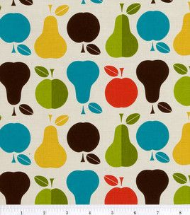 Retro Pear Fabric