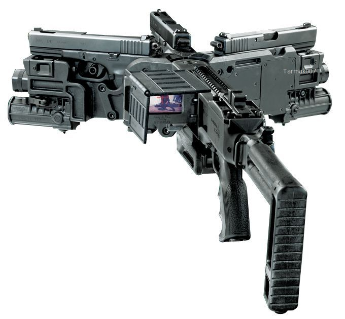 Image result for corner shot gun