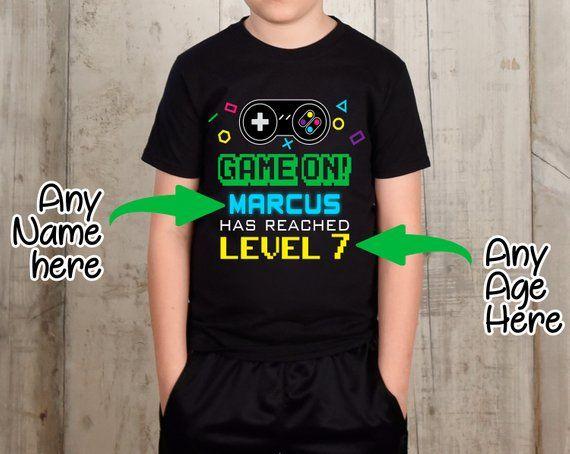 3a64e558 Video Game Shirt, Birthday Shirt, Video Games Party, Gamers, Retro Gaming  Shirt, Kids Gamer Shirt, Controller, 13 Year Old, Geeky Shirt