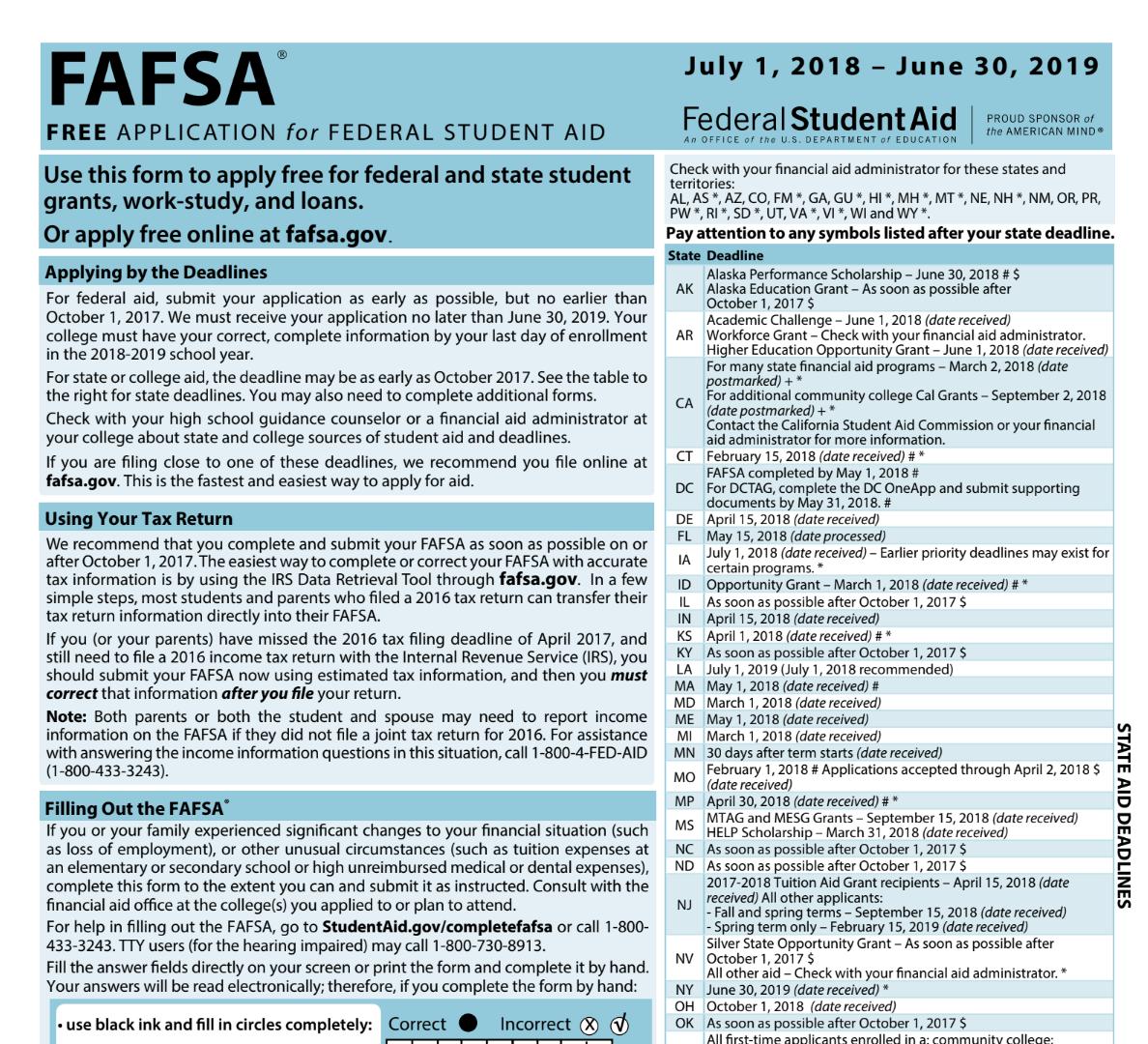 As pdf fafsa