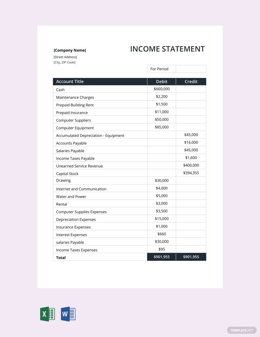 Income Statement Template Free Pdf Google Docs Google Sheets Excel Word Apple Numbers Apple Pages Pdf Template Net Income Statement Statement Template Worksheet Template Free income statement template excel