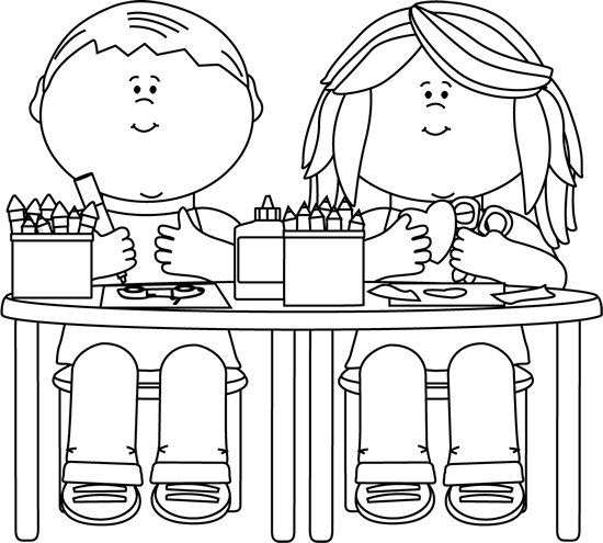 Black And White Kids In Art Class Clip Art Black And White Kids In Art Class Image Coloring Pages Clipart Black And White Clip Art