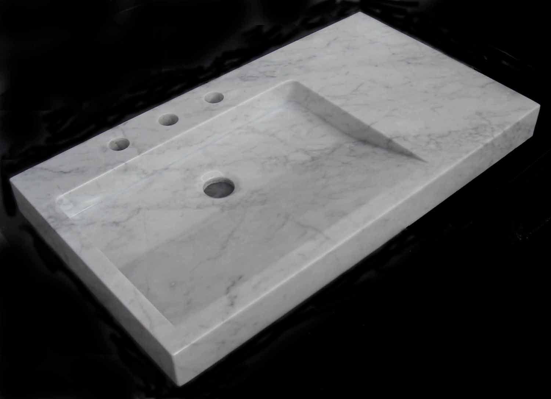 Lavabo De M 225 Rmol En Blanco Carrara Medidas Cm 81x46x7 Peso Kg 54 Ref Lv0810003 219 00
