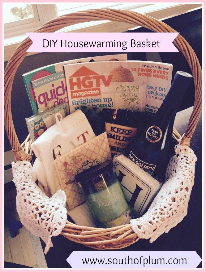 Diy Housewarming Basket Housewarming Basket House Warming Gift Diy House Gifts