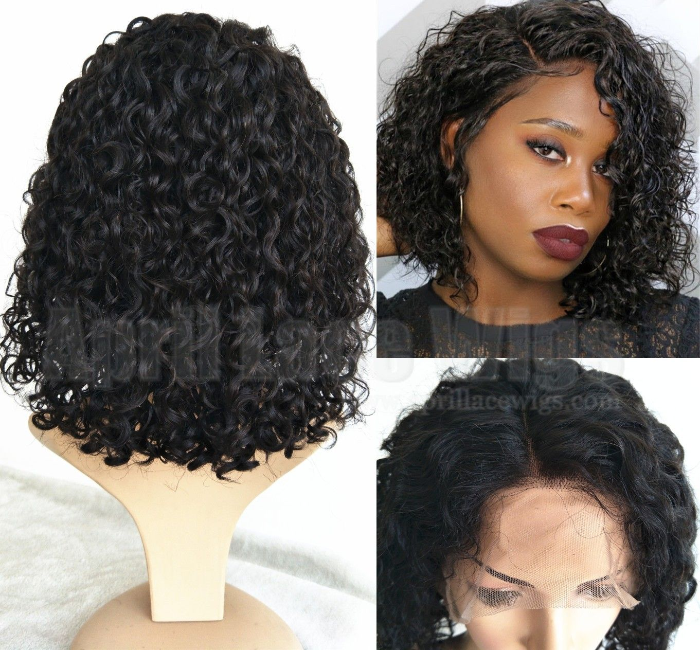 Curly Bob Lace Wig Hair Color For Black Hair Long Hair Color