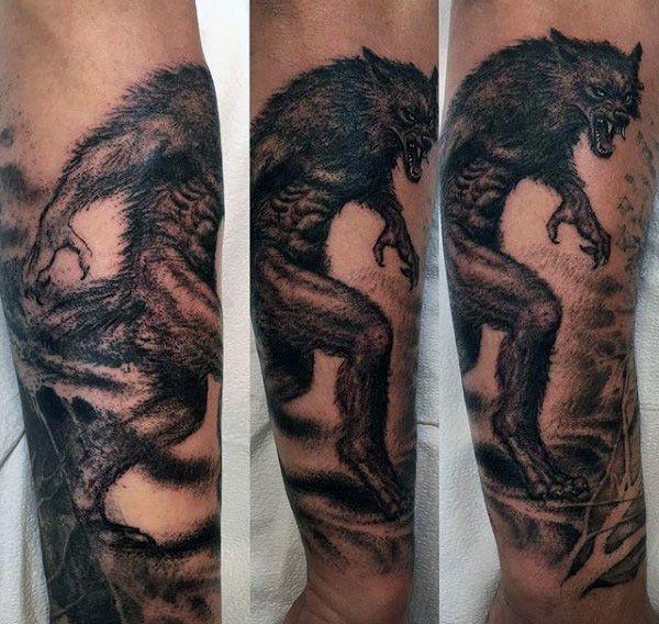80 Werewolf Tattoo Designs For Men Full Moon Folklore Werewolf Tattoo Tattoos Werewolf