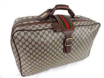 35768fea08c16 Gucci 100% Old Travel Suitcase Webbing Beige (j31) Travel Bag ...