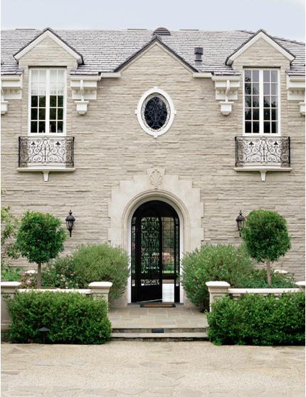 Fantastic classic stone house facade glass and wrought Houses with stone facade