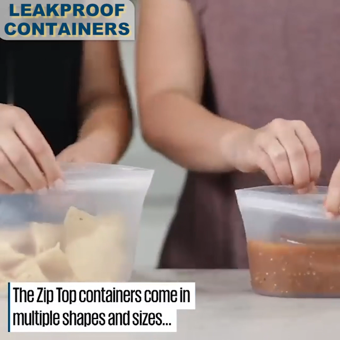 Leakproof Containers Stand Up - Completely Plastic-Free #productenengadgets