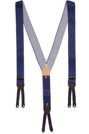 Drakes Blue Polka Dot Braces