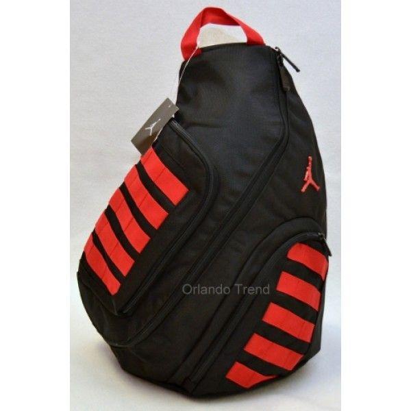 Nike Air Jordan Black and Red Sling Backpack for $50.00 at OrlandoTrend.com  #Nike