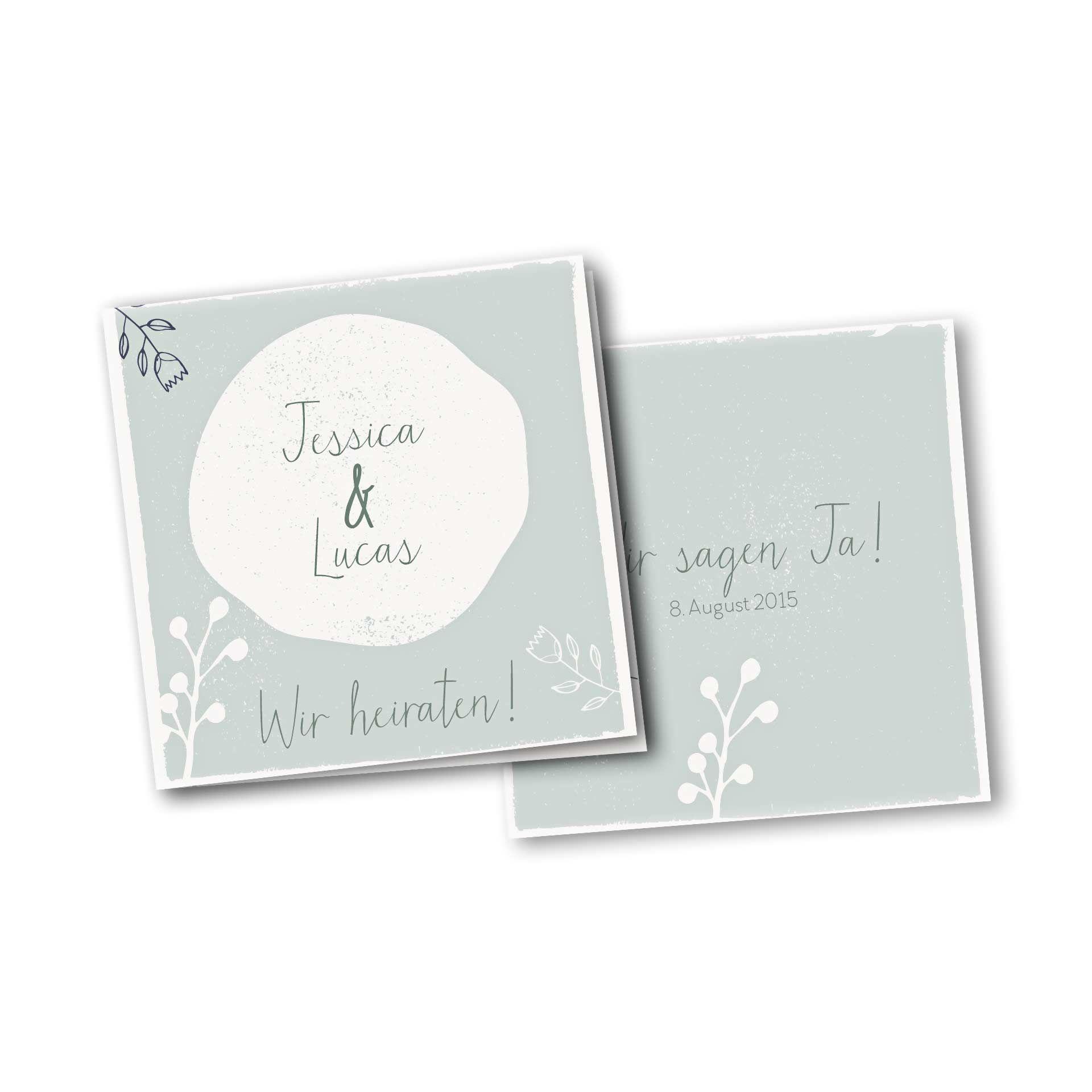 HOCHZEITSKARTEN EINLADUNGSKARTE U2013 4 SEITER QUADRATISCH Kartendesign Retro  Hochzeit #einladungskarten #hochzeitseinladung #karten