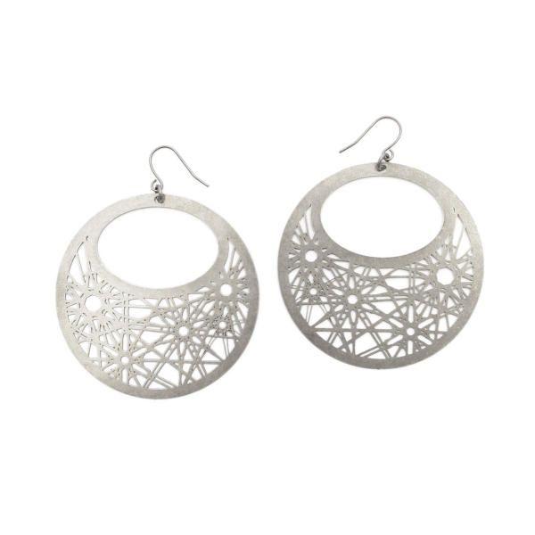 Etoile Hoop Earrings PM Silver as seen in Vous Mag | Mademoiselle Felee