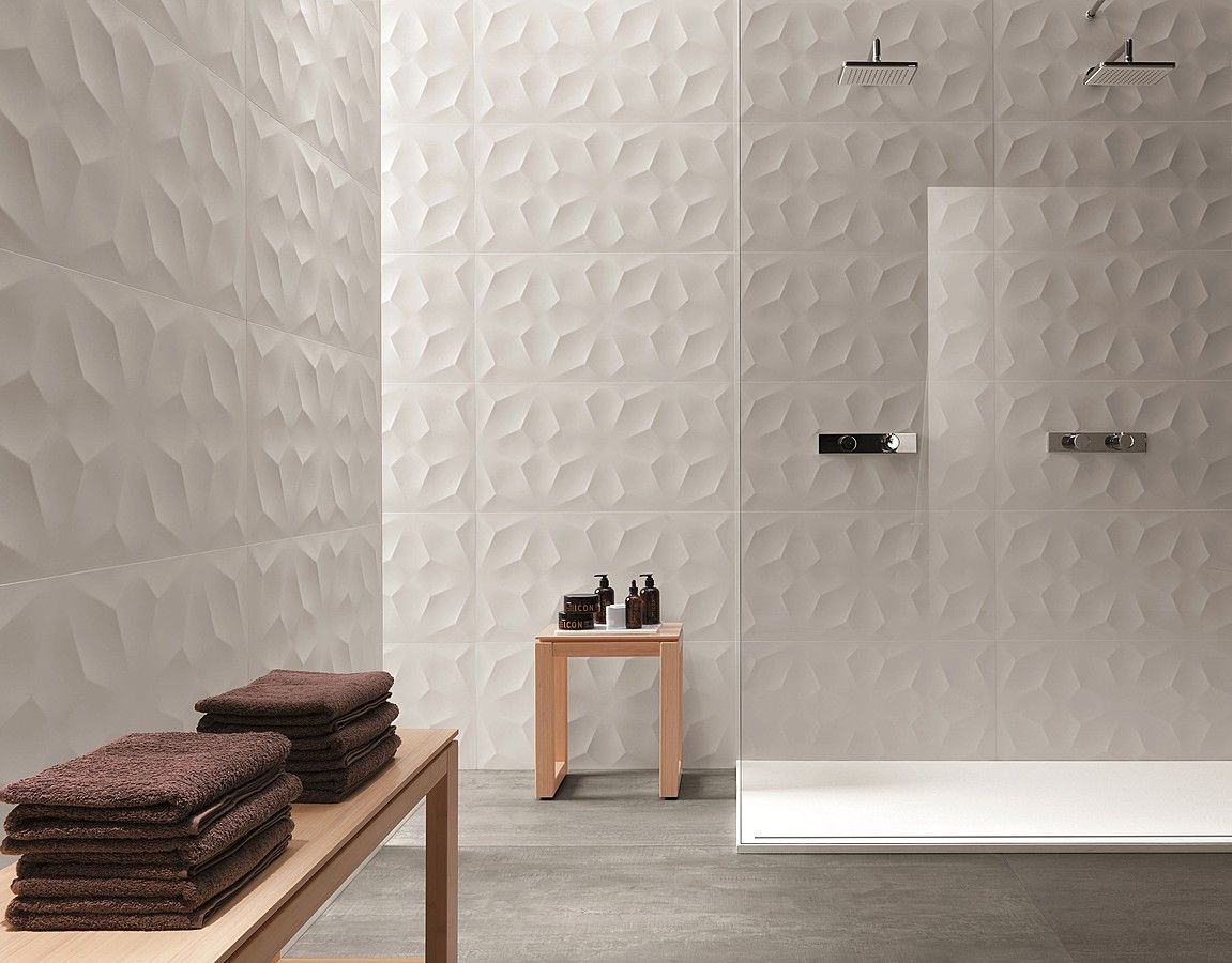 tile expert carrelage 3d wall de ceramiche atlas concorde sdb pinterest salle de bains. Black Bedroom Furniture Sets. Home Design Ideas