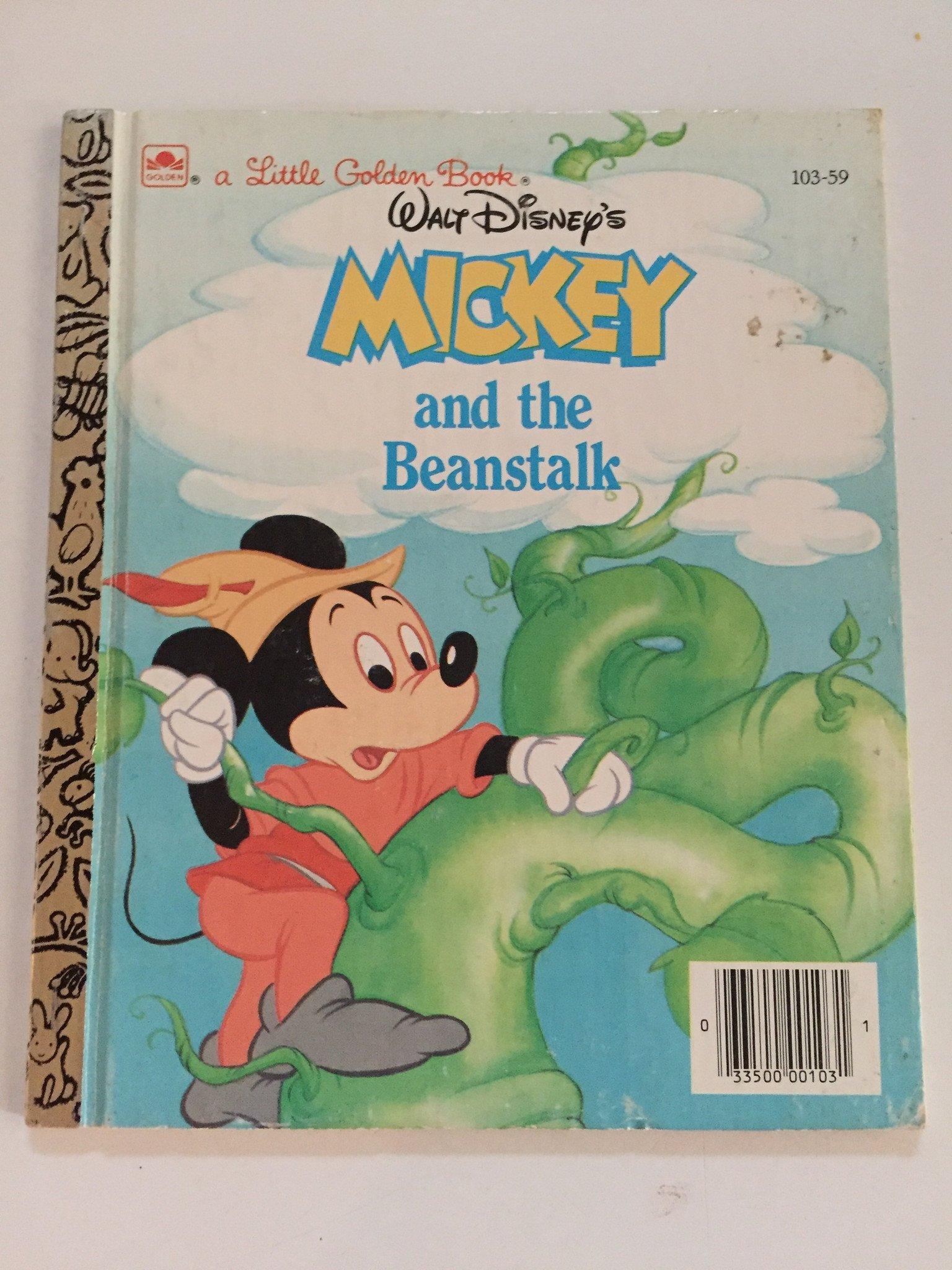 Walt Disney S Mickey And The Beanstalk Little Golden Books Disney Books Disney Princess Books