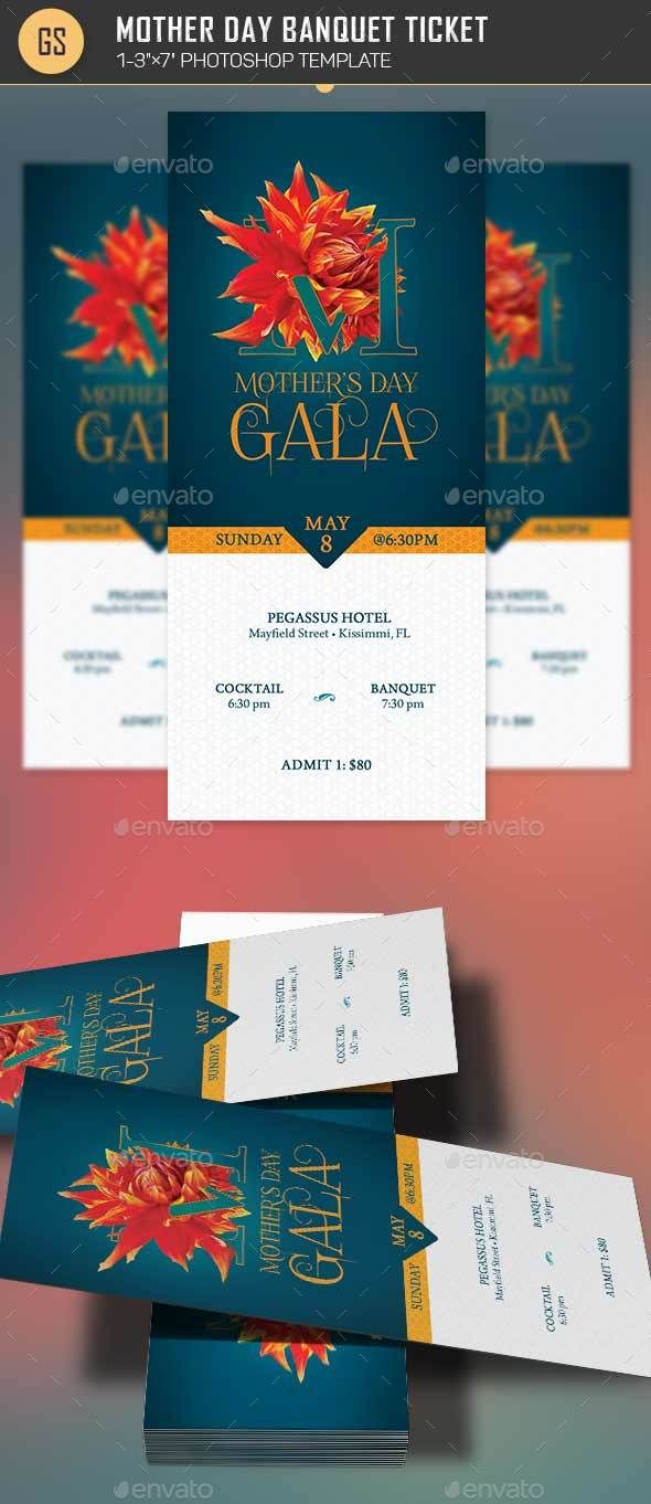 mothers day banquet ticket template by godserv2 mothers day banquet