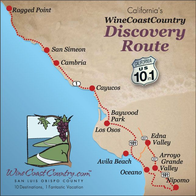 Discovery Route Map Ragged Point California Dreamin Pinterest - Us highway 1 map