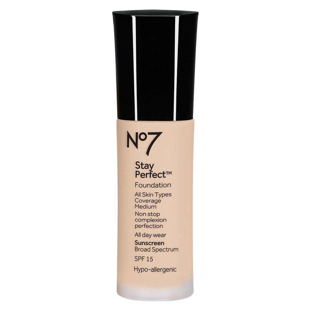 Boots No7 Stay Perfect Foundation Spf 15 Warm Beige 1 oz