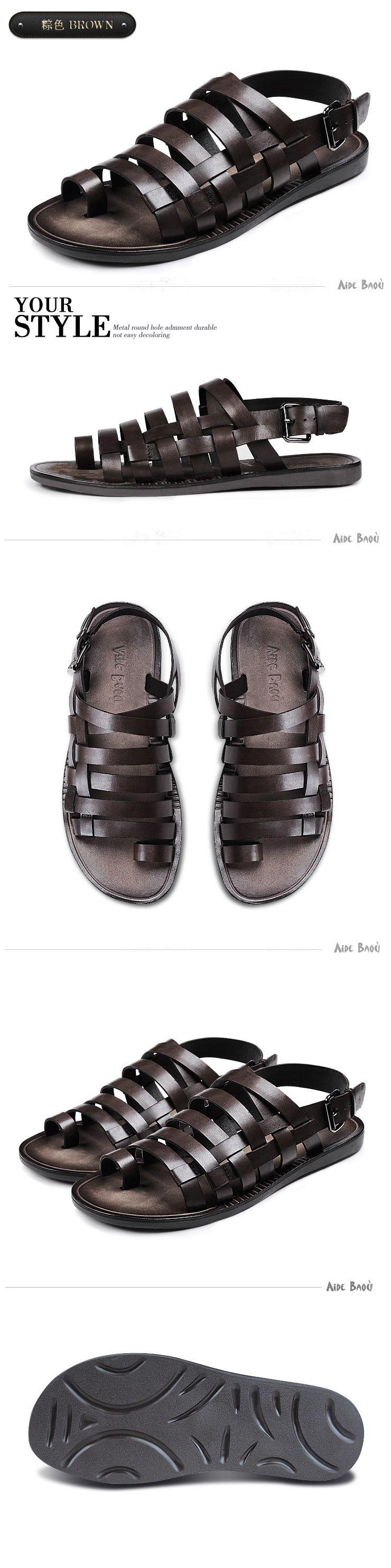 Mens leather sandals, Mens sandals