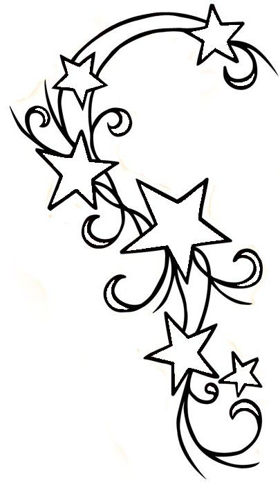 Cute Tattoo Design For My Shoulder But Change Some Of The Stars