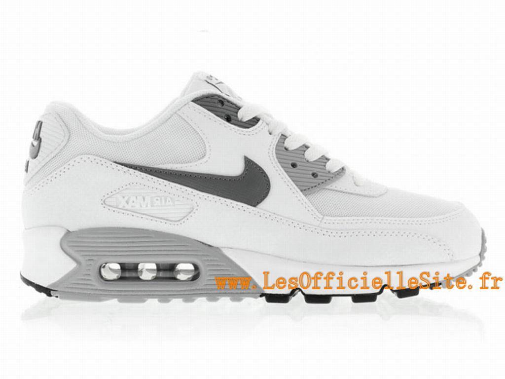 fb19fd7591 Boutique Nike Wmns Air Max 90 Essential Chaussures Nike Pas Cher Pour Femme  Blanc/Gris