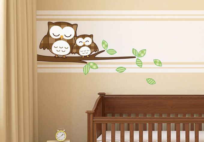 Wall Decals - Sleeping Owls Wall Sticker - innovative home decoration & Fonte www.my-wall-decal.com | Falfestes | Pinterest | Wall decals