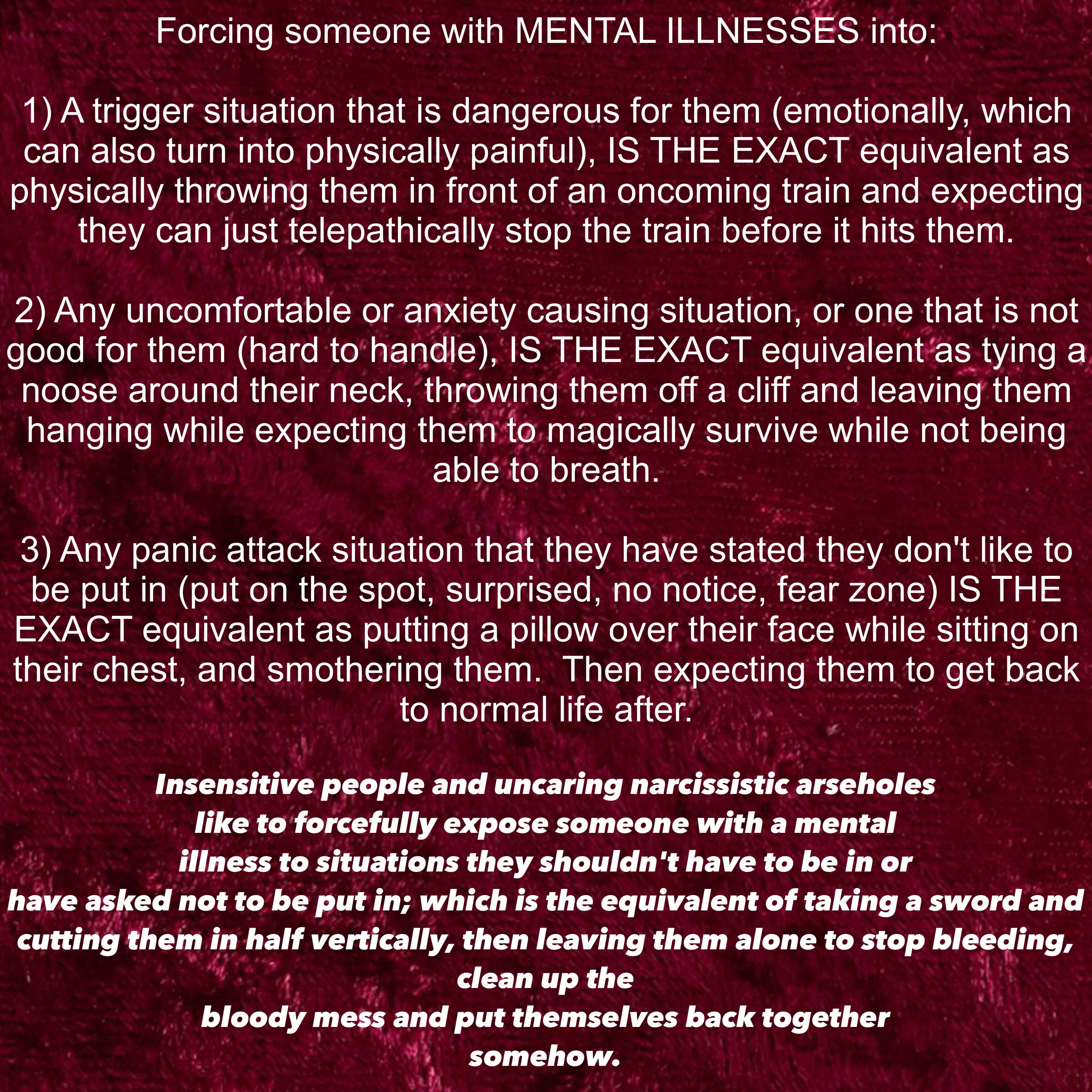 How to help someone with anxiety - Mental Illness Awareness Anxiety Attack Abuse Survivor Social Anxiety Mental Breakdown Nervous Breakdown Complex Ptsd Mental Health Depression