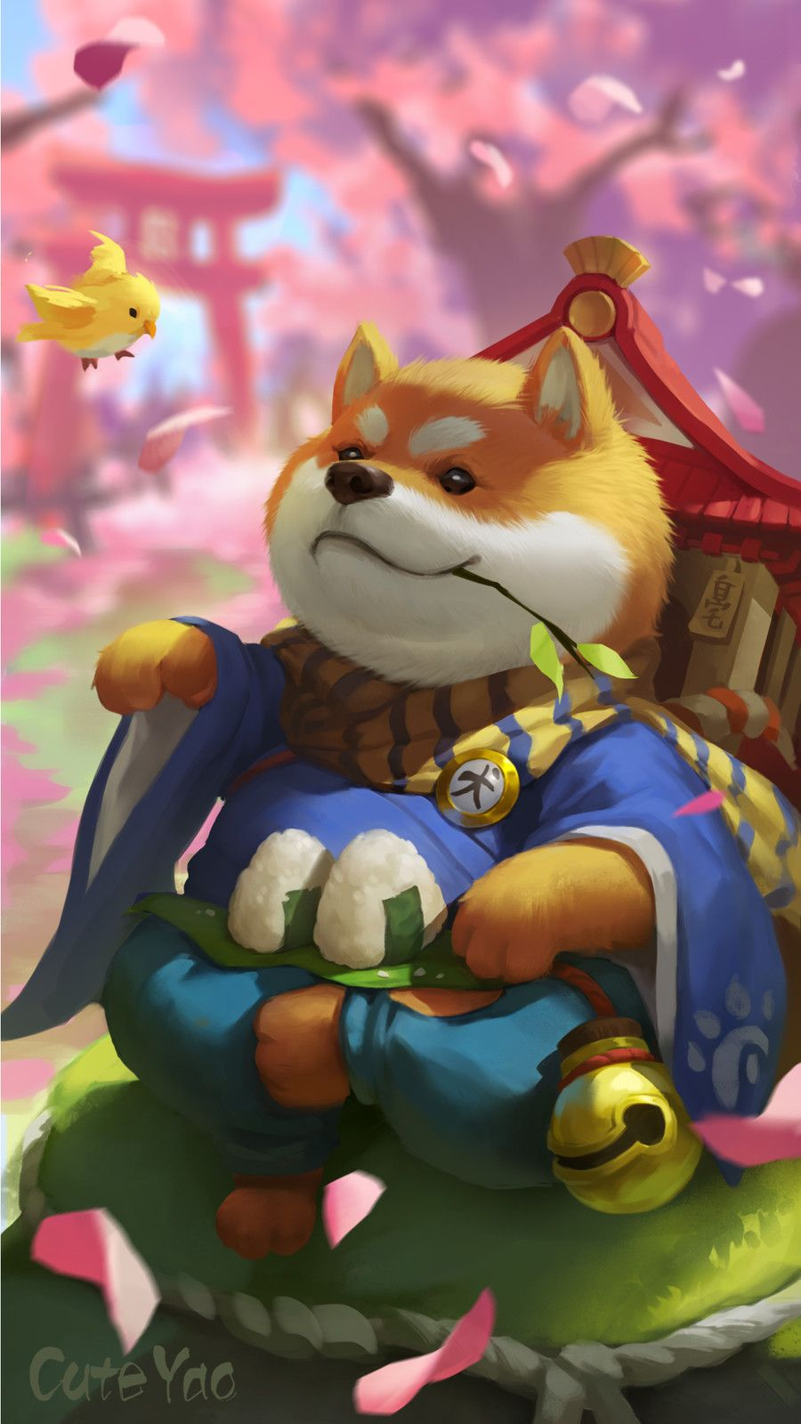 Shiba Inu,doge, Lu Yao on ArtStation at https://www.artstation.com/artwork/OXrq6