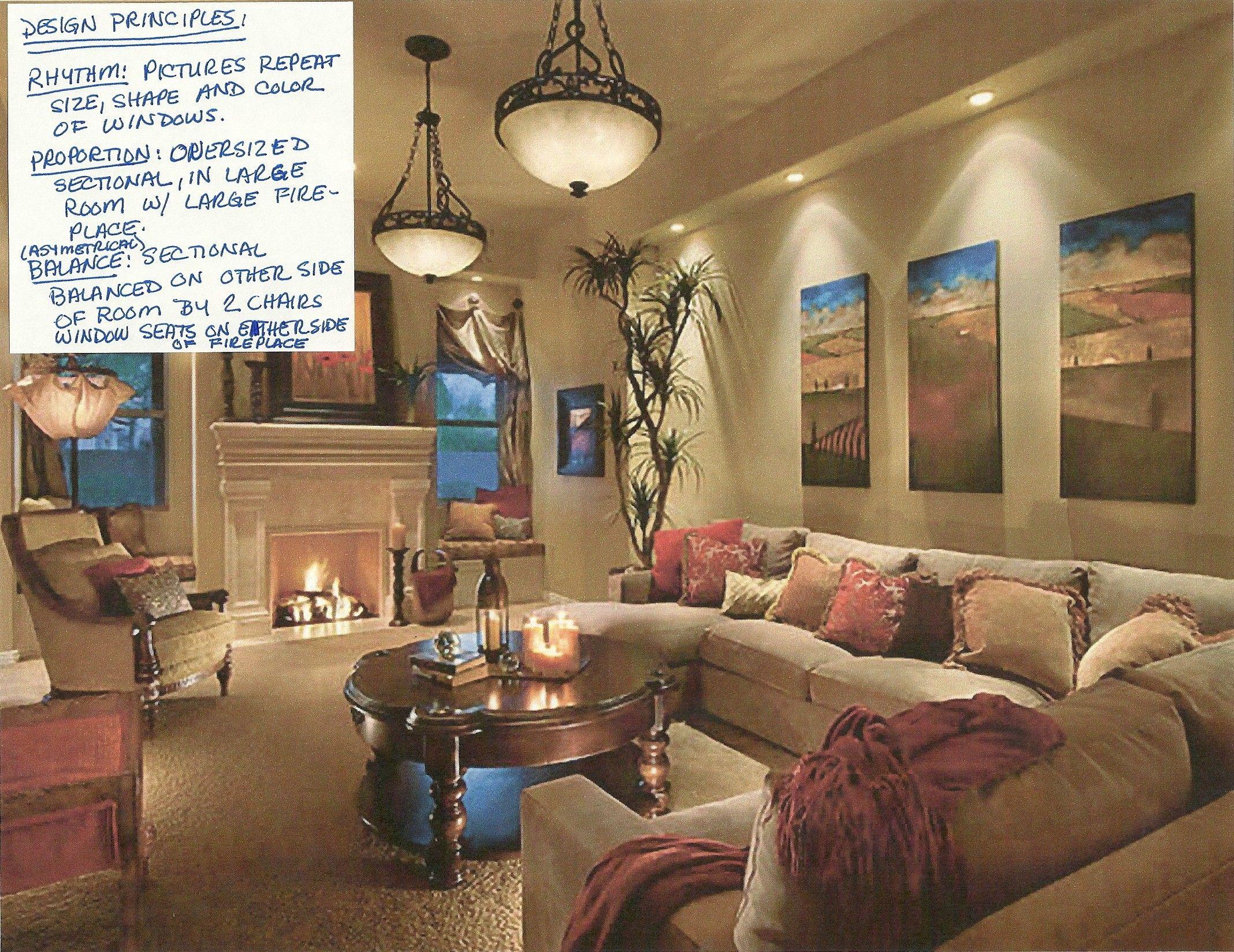 Principles Of Design Rhythm Proportion Asymetrical Balance Dark Living Rooms Living Room Lighting Tips Living Room Lighting
