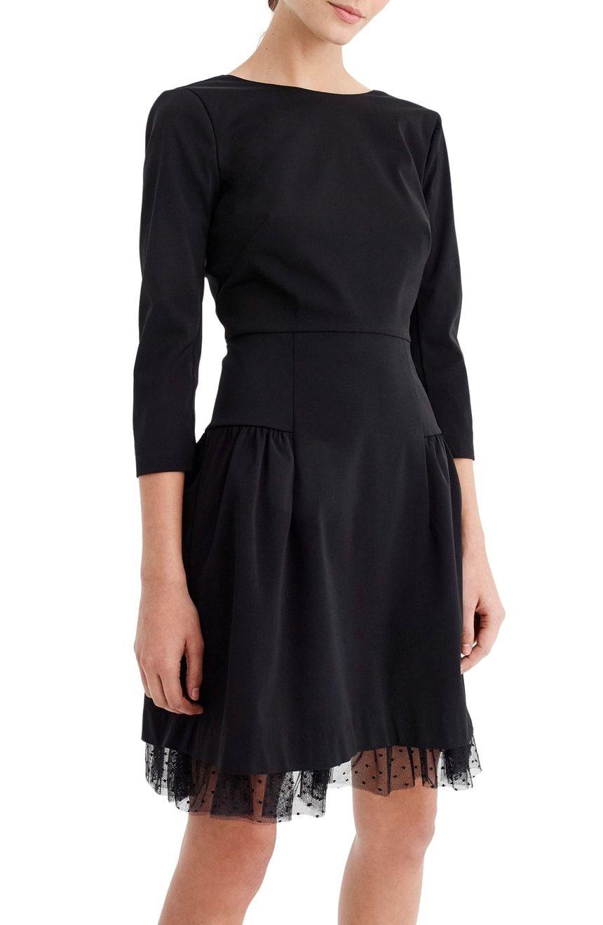 J Crew Tulle Hem Sheath Dress Nordstrom Black Cocktail Dress Dresses Evening Dress Collection [ 1319 x 860 Pixel ]