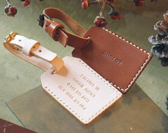 Personalized luggage tag Leather Luggage Tag Personalized Leather ...