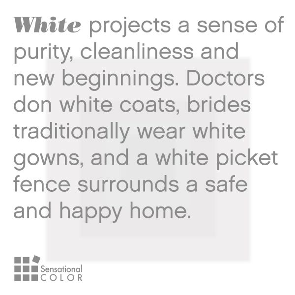 Meaning Of The Color White Sensational Color Color Meanings