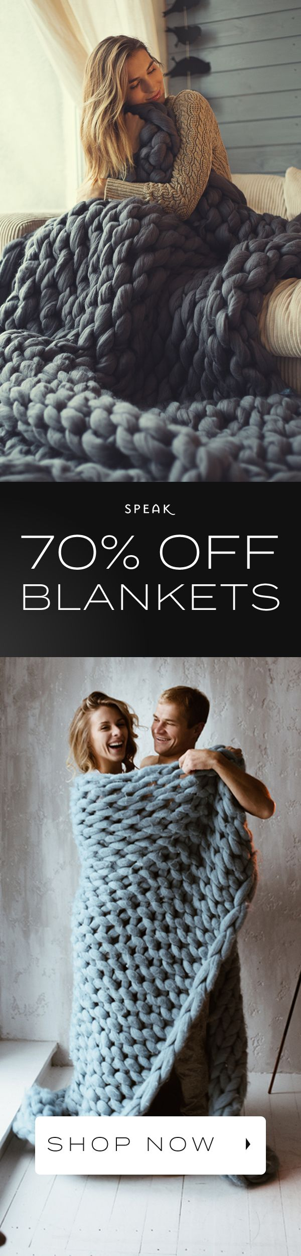 Chunky Knit Blankets are up to 70% off! ★★★★★ (5/5)