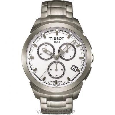 Mens Tissot Titanium Chronograph Watch T0694174403100  dc036b885d