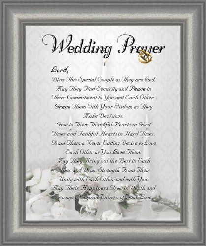 Wedding Marriage Anniversary Prayer Satin Silver Frame 8 X 10 ...