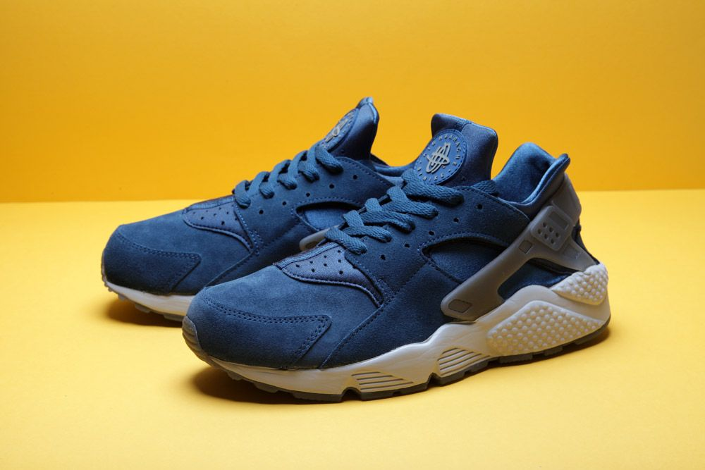 nike air huarache free run grey blue white yellow