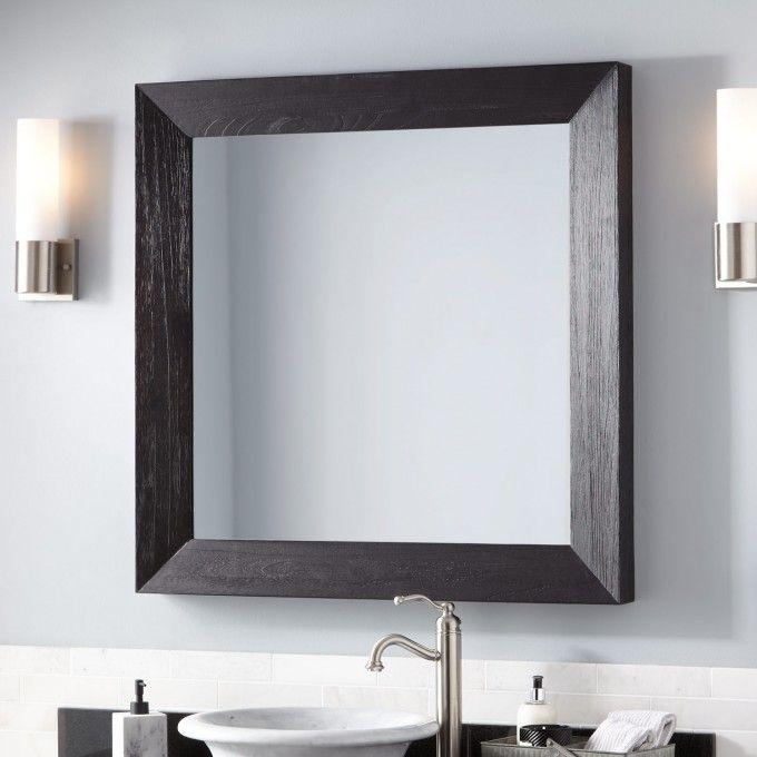 32+ Bathroom vanity mirror with black frame custom