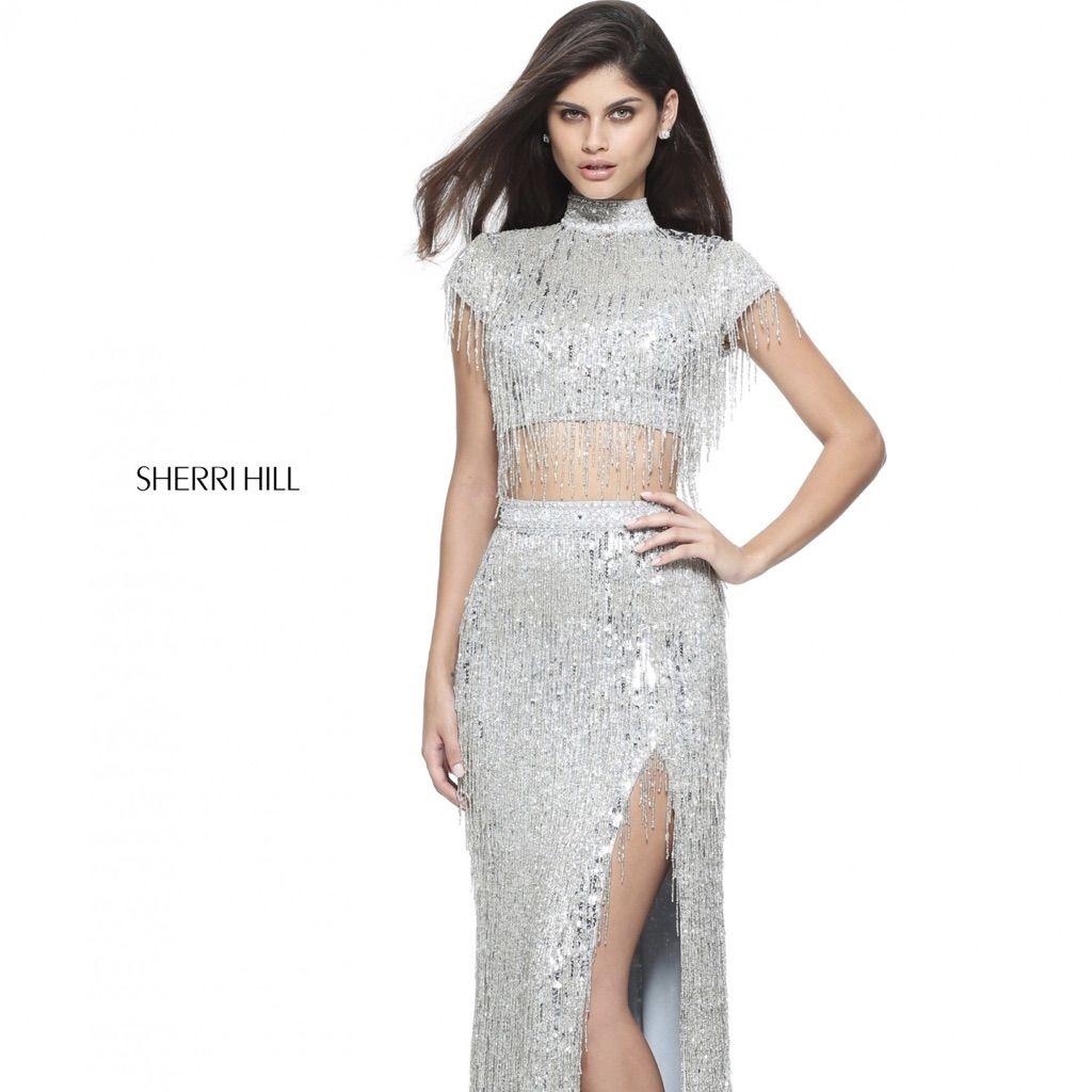 Sherri hill silver piece dress products