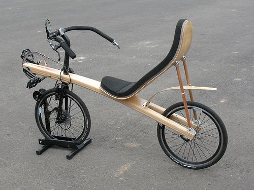 New Wood Recumbent Project Bentrider Online Forums Wooden Bicycle Recumbent Bicycle Wood Bike